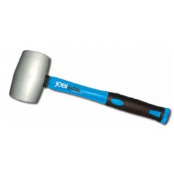 Rubber mallet with fiberglass handle