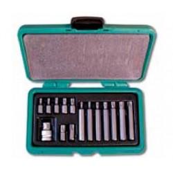 Zestaw bitów torx HONITON, 1/2?, T20-T55, 30/75 mm