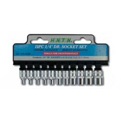 HONITON socket set 11 pcs. 1/4? 4-13 mm