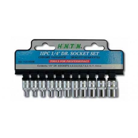 Zestaw nasadek HONITON, 1/4?, 4-13 mm, 11 elem.